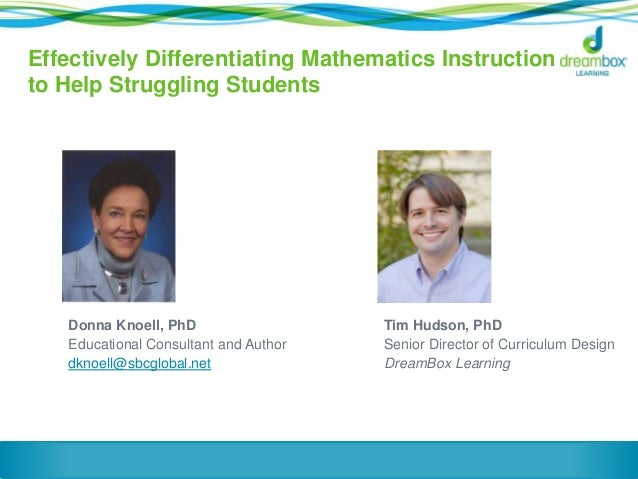 differentiated instruction in math high school