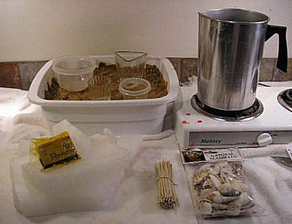 paraffin wax candle making instructions