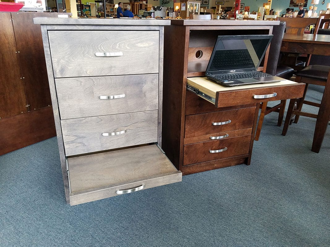 mainstays computer desk with side storage instructions
