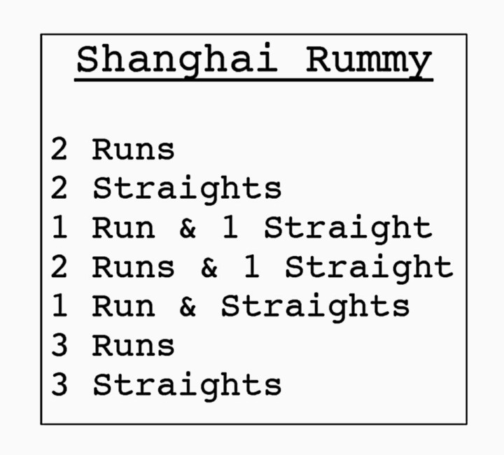 shanghai card game instructions
