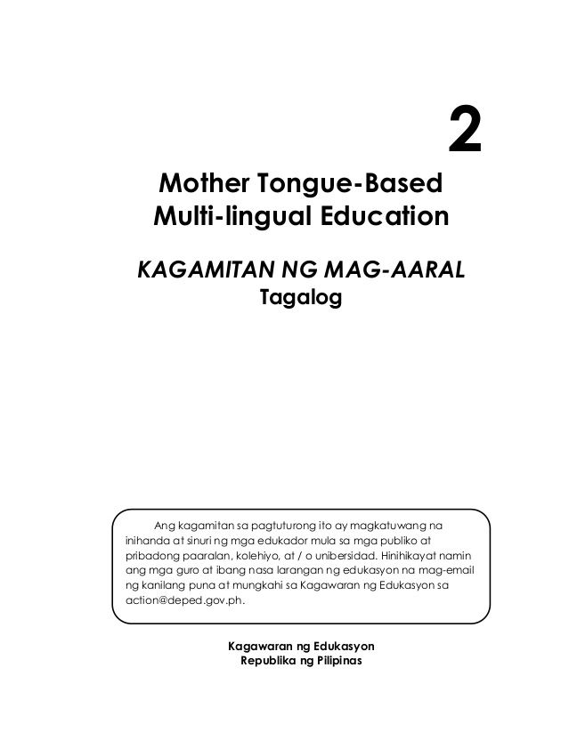 related studies about mother tongue based instruction