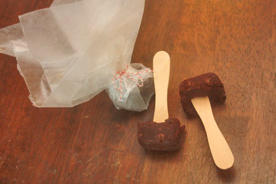 hot chocolate on a stick instructions