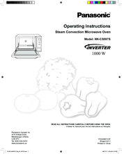instruction manual for panasonic inverter microwave oven