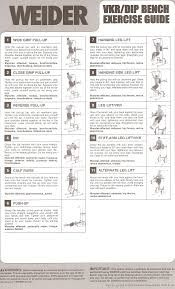 weider 8530 assembly instructions